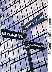 commercio, segno, marketing, affari