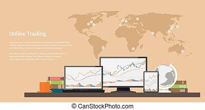 commercio stock, linea