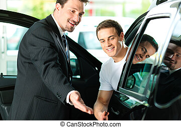 commesso macchina, acquisto, uomo