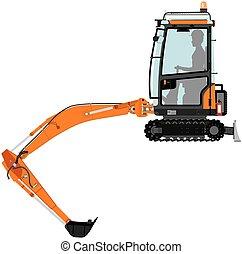 compatto, scavatore