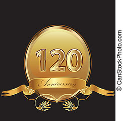 compleanno, sigillo, anniversario, 120