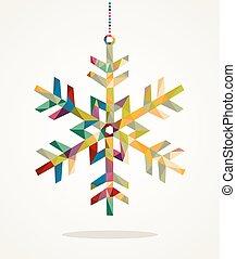 composition., livelli, fatto, eps10, facile, colorito, organizzato, natale, allegro, editing., vettore, file, trendy, fiocco di neve, triangoli