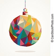 composition., livelli, fatto, eps10, facile, colorito, organizzato, natale, allegro, editing., vettore, file, trendy, cerchio, fronzolo, triangoli