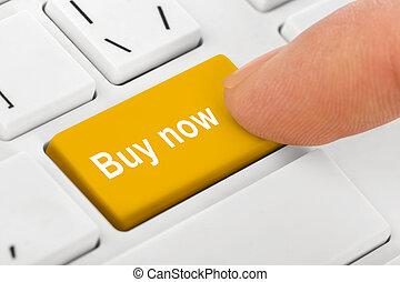comprare, chiave calcolatore, quaderno, tastiera