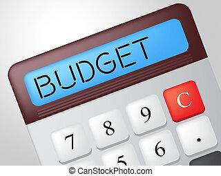 comprare, mezzi, calcolo, calcolatore, budget, contabilità