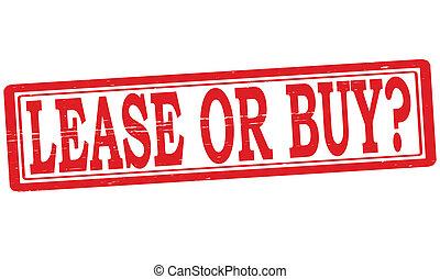 comprare, o, contratto affitto
