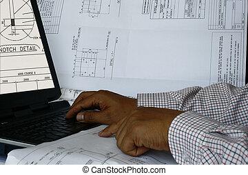 computer, 2, aiutato, disegno