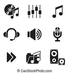 computer, audio, icone