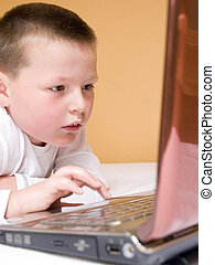 computer, bambino