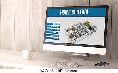 computer casa, desktop, automazione