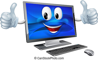 computer desktop, mascotte