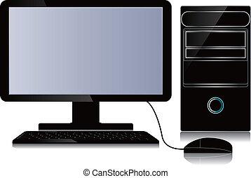 computer, desktop