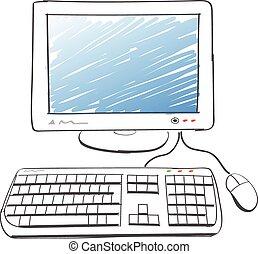computer, disegno