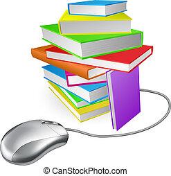 computer, libro, pila, topo