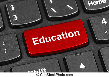 computer portatile, educazione, chiave, tastiera
