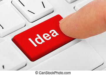 computer portatile, idea, chiave, tastiera