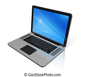 computer portatile, isolato, bianco