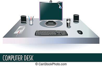computer, scrivania