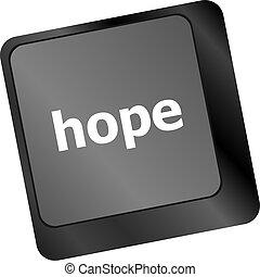 computer, speranza, chiave, tastiera