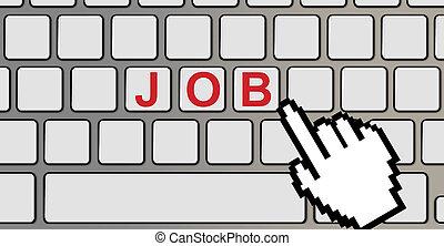 computer tastiera, lavoro, testo
