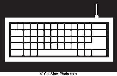 computer tastiera, silhouette