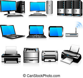 computer, tecnologia, stampanti