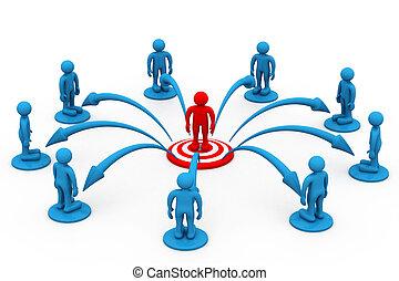 comunicazione, concetto, affari