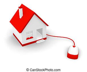 comunicazione, concetto, casa