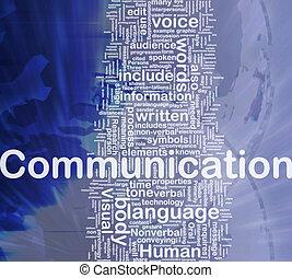 comunicazione, concetto, fondo