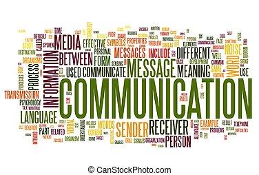 comunicazione, concetto, parola, nuvola, etichetta