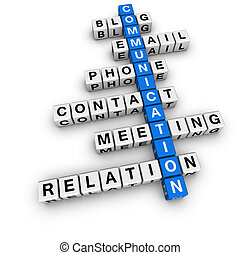 comunicazione, cruciverba