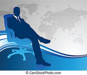comunicazione globale, esecutivo, fondo, affari
