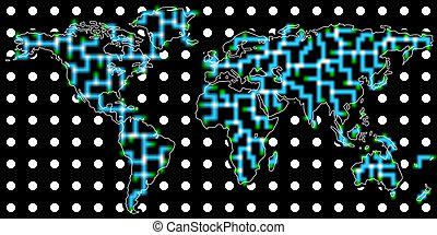 comunicazione, globale, fondo