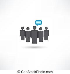 comunicazione, persone