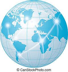 comunicazione, rete, mondo
