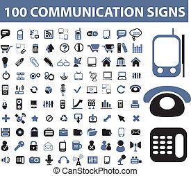 comunicazione, segni, 100