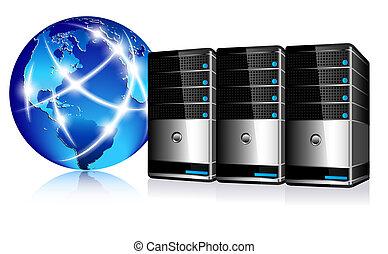 comunicazione, sistema servizio, internet
