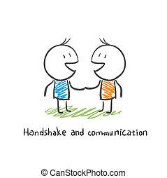 comunicazione, stretta di mano