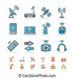 comunicazione, tecnologia, fili