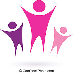 comunità, /, donne, icona, gruppo