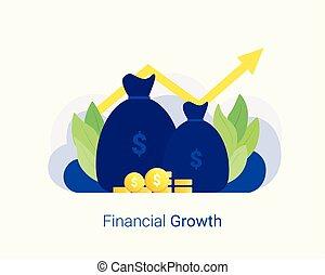 concept., crescita, affari