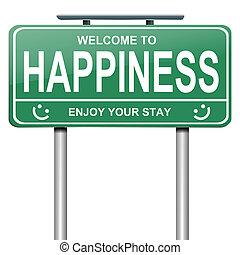 concept., felicità