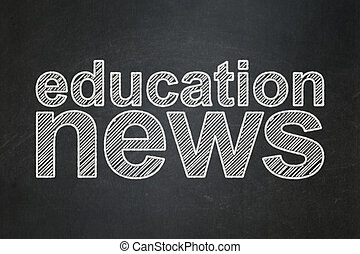 concept:, notizie, educazione, lavagna, fondo