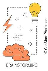 concept., risolvere, idea, risultato, problema, brainstorm