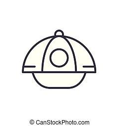 concept., sport, vettore, nero, simbolo, appartamento, icona, segno, berretto, illustration.