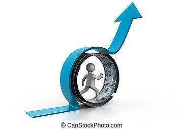 concept.(business, success), crescita, finanziario