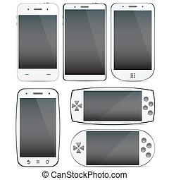 concepts., smartphone, set