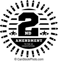 concessione, vettore, costituzione, ci, secondo, possesso, bianco, weapons., illustrazione, emendamento