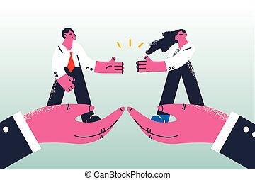 concetto, affare, accordo, associazione, affari
