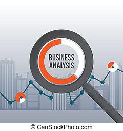 concetto, affari, analisi